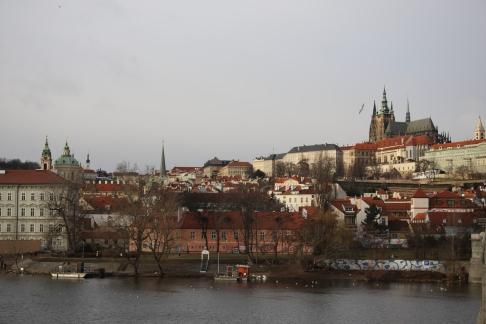 The Charles River and Prague Castle - Prague, Czech Republic